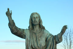 Jesus Christ figure. Jesus figure with hands up Stock Image