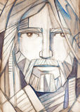 Jesus Christ-gezicht Royalty-vrije Stock Foto's