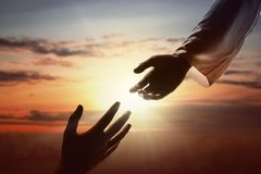 Free Jesus Christ Giving A Helping Hand To Human Royalty Free Stock Image - 159825506