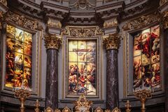 Jesus Christ Glass Painting Stock Image