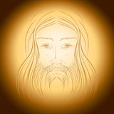 Jesus Christ gloria shine light illustration Stock Image