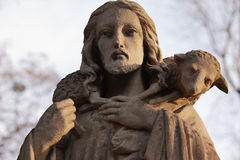 Jesus Christ - the Good Shepherd (art composition) Stock Image