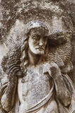 Jesus Christ - the Good Shepherd (fragment of ancient statue) Royalty Free Stock Photography