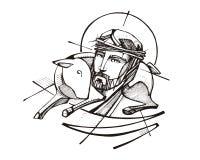 Jesus Christ Good Shepherd Stock Images