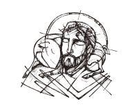 Jesus Christ Good Shepherd Royalty Free Stock Photo