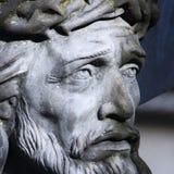 Jesus Christ ha crocifitto una scultura antica Immagine Stock Libera da Diritti