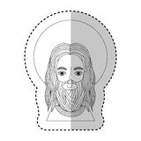 Jesus christ with halo character religious icon. Vector illustration design Stock Image