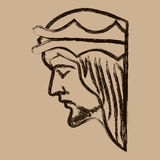 Jesus Christ Hand Drawn Vector Illustration Royalty Free Stock Image