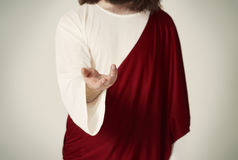 Jesus Christ. Hand reaching towards everyone royalty free stock images