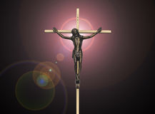 Jesus Christ-hartstocht op het kruis Royalty-vrije Stock Foto