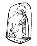 Jesus Christ healing a man Royalty Free Stock Image