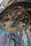 Jesus Christ and his apostles, Damaged Christian frescoes Stock Photo