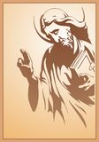 Jesus Christ, holy Spirit, blessing, Christianity,. Jesus Christ with bible in prayer Royalty Free Stock Photos