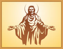 Jesus Christ, holy Spirit, blessing, Christianity,. Jesus Christ with bible in prayer Royalty Free Stock Image