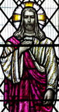 Jesus Christ I am the light in stained glass. A photo of  Jesus Christ I am the light in stained glass Royalty Free Stock Photos