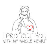 Jesus Christ - I Protect You Royalty Free Stock Photography