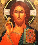 Jesus Christ Icon. Old painting of Jesus Christ Royalty Free Stock Photos
