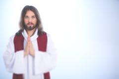 Jesus Christ iluminado imagem de stock
