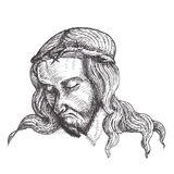 Jesus Christ ink drawings Royalty Free Stock Image