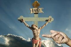 Jesus Christ INRI frälsare av kristen arkivbild
