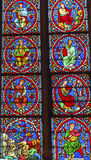 Jesus Christ Kings Stained Glass Notre Dame Paris France Royalty Free Stock Image