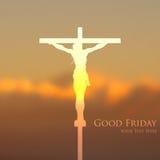 Jesus Christ-kruisiging op Goede Vrijdag Royalty-vrije Stock Foto's
