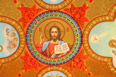 Jesus Christ, a list on a ceiling in the Temple Stock Images