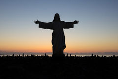 Jesus christ loves you - statue silhouette Royalty Free Stock Photography