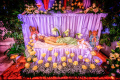 Jesus Christ lying dead in symbolic grave Stock Photography