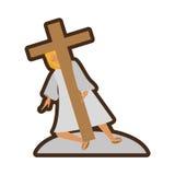 Jesus christ meet virgin mary line Stock Images