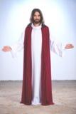 Jesus Christ mit den offenen Armen lizenzfreies stockbild
