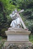 Jesus Christ, Montserrat, Barcelone Images libres de droits