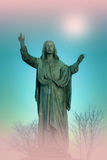 Jesus Christ monument, artistic background Royalty Free Stock Image