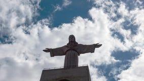 Jesus Christ Monument Cristo-Rei Lisboa in Lissabon stock footage