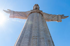 Jesus Christ monument in Lisbon Royalty Free Stock Photography