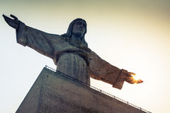 Jesus Christ monument in Lisbon - Portugal Royalty Free Stock Photos