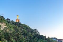 Jesus Christ monumentsolnedgång Lissabon Royaltyfria Foton