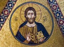 Jesus Christ mosaic 11th century. Jesus Christ mosaic, 11th century, Monastery Hosiou Louka, Greece stock image