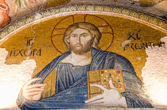 Jesus Christ mosaic in Chora Church Stock Photos