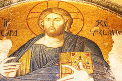 Jesus Christ mosaic in Chora Church in Istanbul Royalty Free Stock Photography