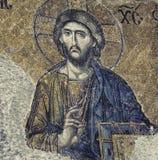 Jesus Christ Mosaic Closeup Royaltyfria Bilder