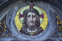 Jesus Christ mosaic decoration Stock Photos