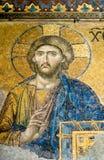 Jesus Christ mosaic at Hagia Sophia royalty free stock photo