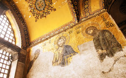 Jesus Christ mosaic at Hagia Sophia Stock Photography