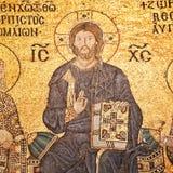 Jesus Christ mosaic at Hagia Sophia Stock Images