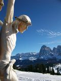 Jesus Christ and the mountains Royalty Free Stock Images