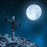 Jesus Christ na cruz fotografia de stock royalty free
