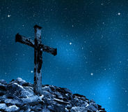 Jesus Christ na cruz imagens de stock royalty free