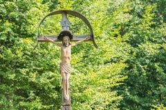 Jesus Christ na cruz foto de stock royalty free