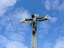 Jesus Christ na cruz, Praga, República Checa fotos de stock royalty free